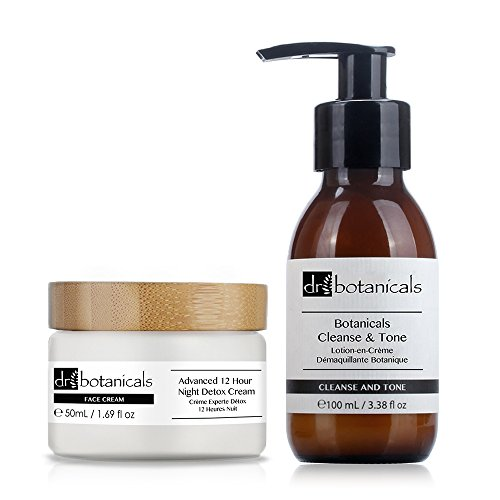 Dr Botanicals Cleanse and Tone and Advanced 12 Hour Night Detox Cream, 300 Gram