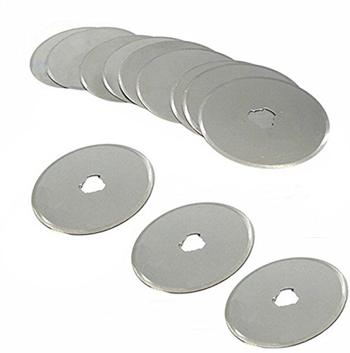20pcs 45mm Rotary Cutter Blade Cutting Mat Quilting Fabric Paper Leather Craft (Pto Slip Clutch)
