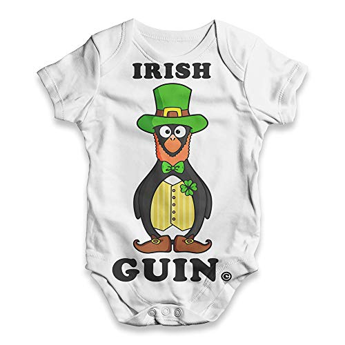 Baby Boy Clothes Irish Leprechaun Guin The Penguin Baby Unisex All-Over Print Baby Grow Bodysuit 3-6 Months ()