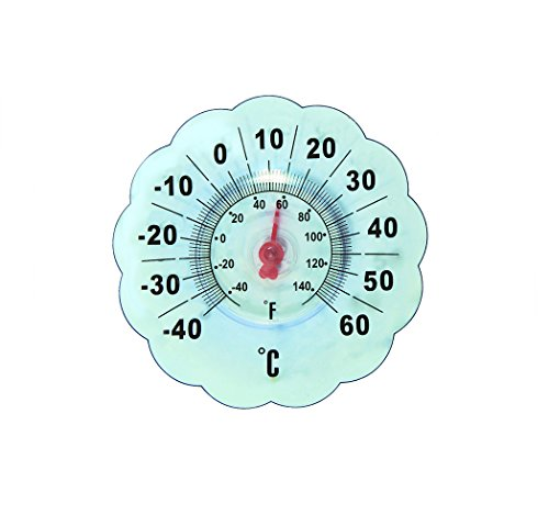 Apollo Exports International AP-2490 Indoor/Outdoor Window Thermometer (Window Cling Thermometer compare prices)
