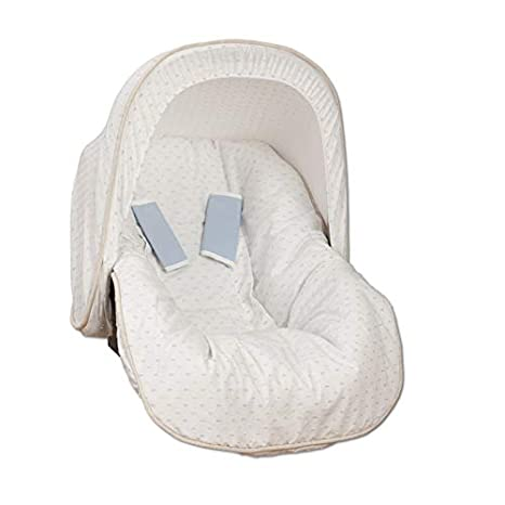 Babyline 7000624 - Colchoneta porta bebé con capota y cubre arnés ...
