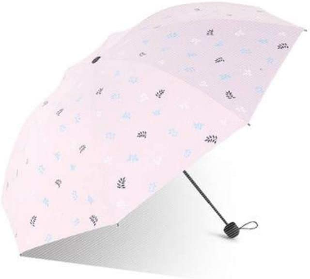 Windproof UV Protection Big Straight Umbrella Wuzhongdian Sun Umbrella,Foldable,Sunscreen Coating Color : Pink