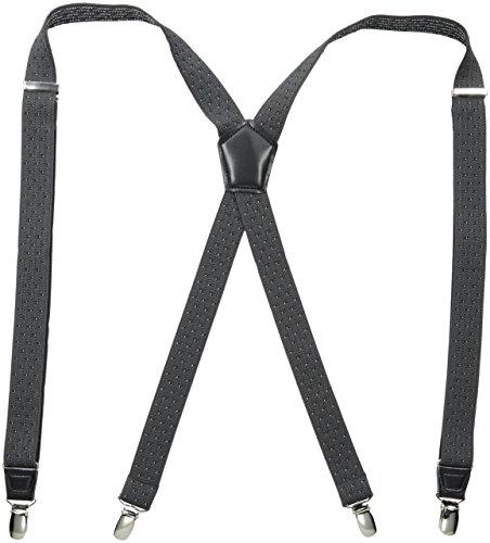Dockers Men's Dobby Print Suspenders, Gray, One Size