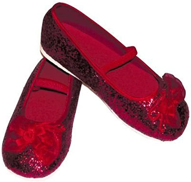 Girls sparkly red ruby slippers