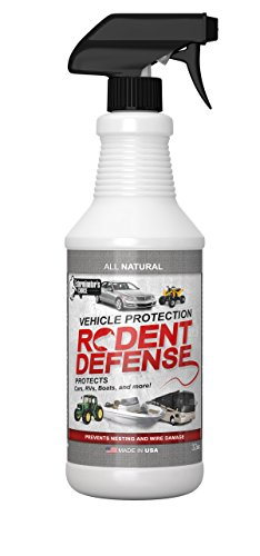 Vehicle Protection by Exterminators Choice-Mice & Rodent Repellent Vehicle Wiring|Protects Engine Wiring|Prevents Nesting/Chewing-All Natural-for Rats,Squirrels, (Squirrel Nesting Box)