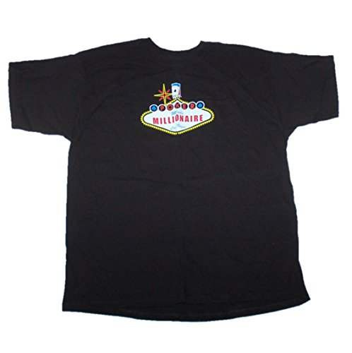 (WPT World Poker Tour Men's Poker Made Millionaire Las Vegas T-Shirt, Black, X-Large)