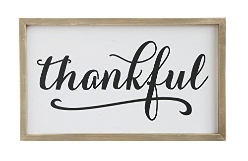 Creative Co-Op DA7870 Sayings Framed Thankful Wall Decor