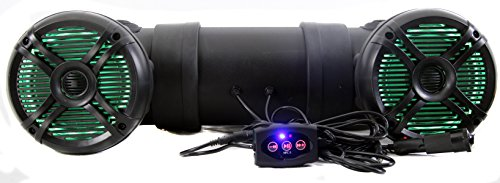 Q Power 500W Marine Bluetooth ATV Speaker System with LED Lights | QATV65BT-LED