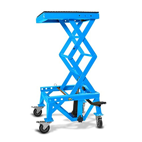Hydraulic Scissor Lift Dolly ConStands Moto Cross XL + Castors Blue KTM 660 LC4 SMC 660 Cross