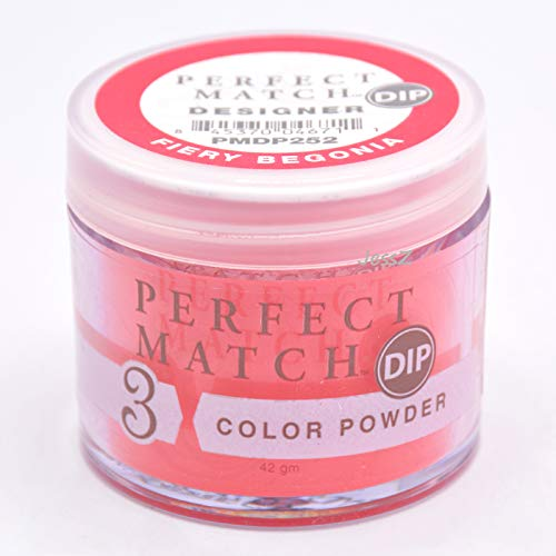 Lechat Perfect Match Designer Dipping Powder Bouquet Collection PMDP252 Fiery Begonia