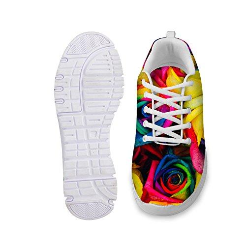 HUGS IDEA Florals Womens Fashion Sneakers Lightweight Running Shoes Floral 3 ctwZ3HZ