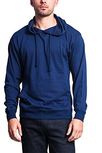 G-Style USA Cross-Dyed Heather Jersey Pullover Hoodie MH13104 - ROYAL CAVIAR - Small