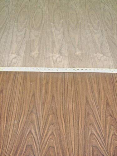 Walnut wood veneer 48'' x 96'' with phenolic laminate backer''A'' grade (HPL)