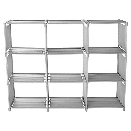 Storage Bookcase Creative Cabinet Storage Rack (Gray) ()