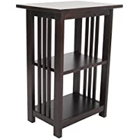 Michael Anthony Frances Bay Espresso 2 Shelf End Table