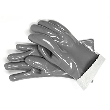 Steven Raichlen Best of Barbecue Insulated Food Gloves (Pair) / 12.6  Length - SR8037 - Durable and Reusable - Safely Handle Hot Food from Grill or Kitchen