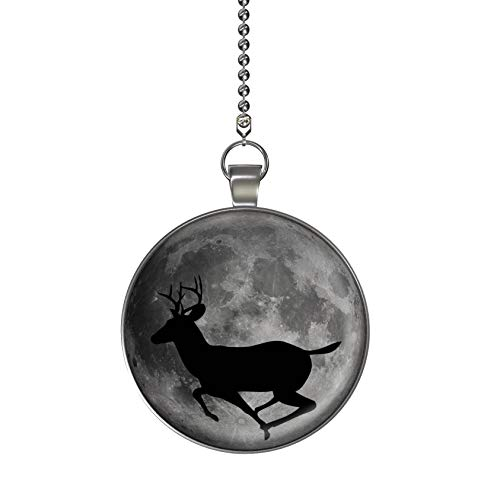 Deer Moon Glow in the Dark Fan/Light Pull Pendant with Chain