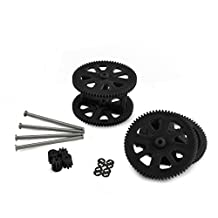 Parrot AR Drone 2.0 & Power Edition Replacement Motor Gears and Shaft / Repair Parts Kit / Upgrade Gears (Black)