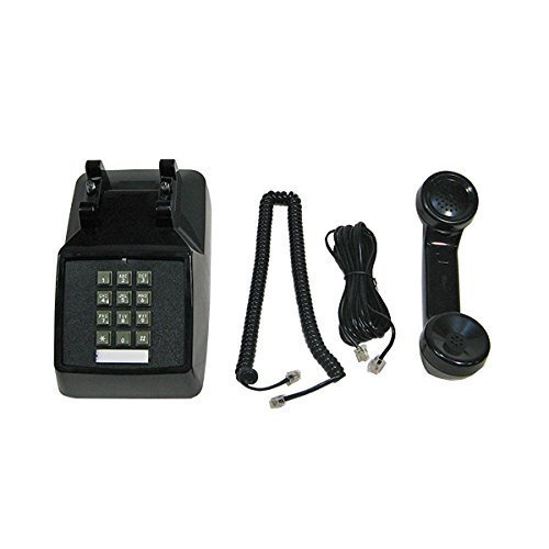 Single Line 2500 Classic Analog Desk Phone with Volume Control, 2 Ports, Handset and Line Cord Included , Black - Works on PBX, 1 Year Protection (System Phone Analog)