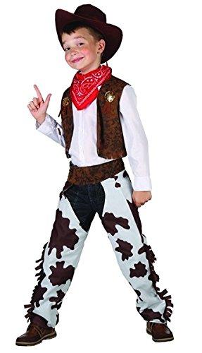 Disfraz de vaquero de lujo para niño 4 à 6 ans  Amazon.es  Juguetes y juegos 357afc0b397