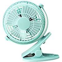 Mini Clip Fan , HANGRUI Mute personal fan with USB for Home Office Baby Stroller Laptop Study Table Gym Camping Tent , 360° rotation