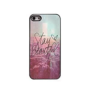 ZL Stay Beautiful Design Aluminum Hard Case for iPhone 5/5S