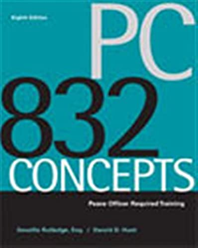 pc 832 concepts peace officer required training devallis rutledge rh amazon com Series 7 Study Guide RHIT Study Guide