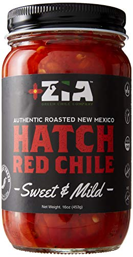 Roasted Desert Salsa Pepper (Original New Mexico Hatch Red Chile By Zia Green Chile Company - Delicious Flame-Roasted, Peeled & Diced Southwestern Certified Red Peppers For Salsas, Stews & More, Vegan & Gluten-Free - 16oz)
