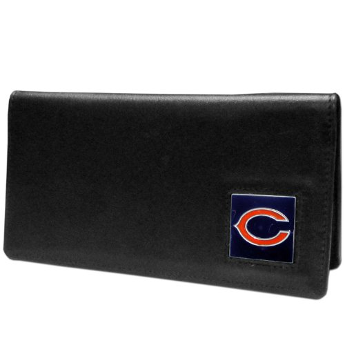 - NFL Chicago Bears Leather Checkbook Cover