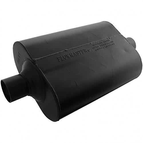 - Flowmaster 952445 Super 40 Muffler - 2.25 Center IN / 2.25 Center OUT - Aggressive Sound