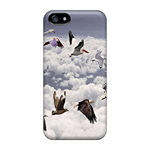 Waterdrop Snap-on Birds In Sky Cases For Iphone 5/5s