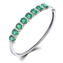 Diamond Emerald Bracelet for Women