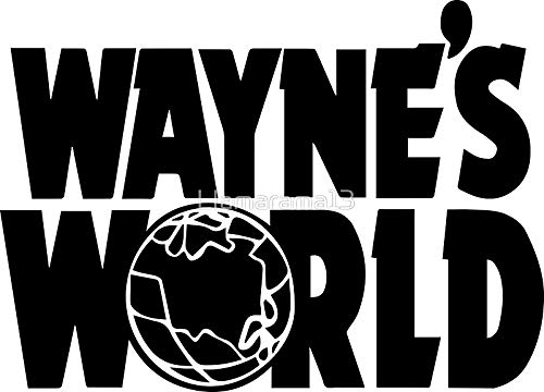 LA STICKERS Wayne's World (Inverted) - Sticker Graphic - Auto, Wall, Laptop, Cell, Truck Sticker for Windows, Cars, Trucks