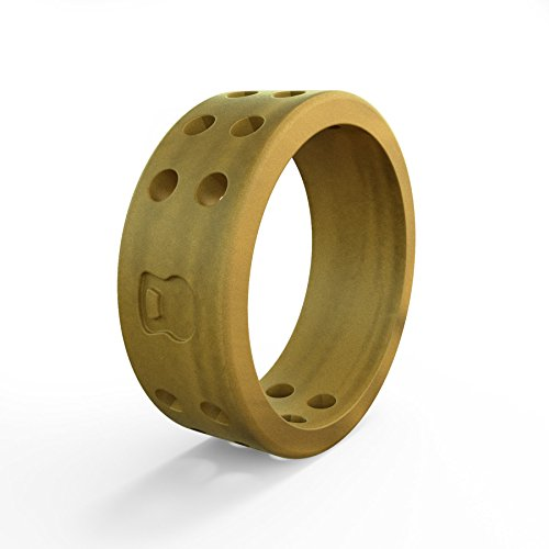 (Women's Gold Perforated Silicone Ring Size 05)