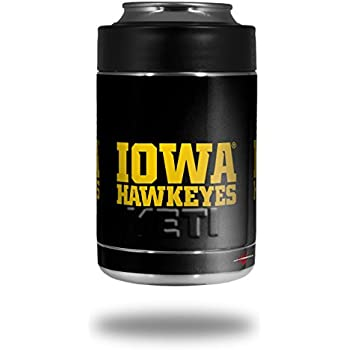 28a9c53f30e Iowa Hawkeyes 01 Gold on Black - Decal Style Skin Wrap fits Yeti Rambler  Colster and RTIC Can (COOLER NOT INCLUDED)