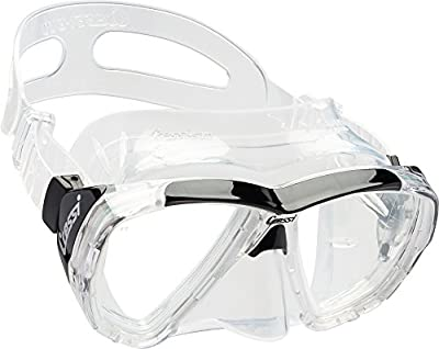 Cressi Adult Patented Inclined Inverted Teardrops Lens Mask for Scuba, Snorkeling, Freediving | Big Eyes Evolution: made in Italy
