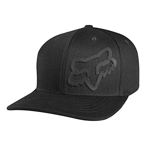 Hat Flex Cap (Fox Men's Flex Fit Legacy Logo Hat, Black2 Small/Medium)