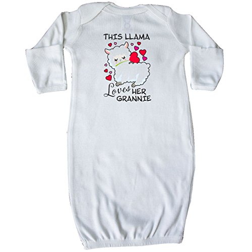 inktastic Valentines Day This Llama Loves Her Grannie Toddler T-Shirt