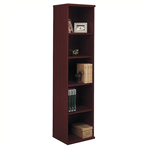 - Bush Business Series C 18W 5-Shelf Bookcase in Mahogany
