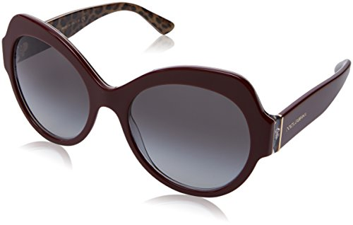 Dolce & Gabbana Women's 0DG4320 Bordeaux Leopard/Smoke Gradient One - Brand Name Sunglasses Of
