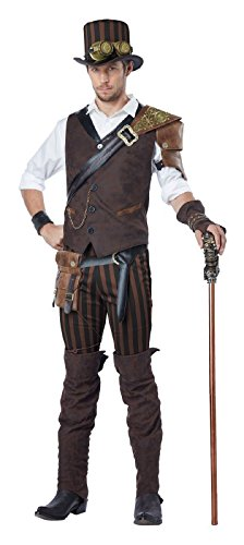 California Costumes Men's Steampunk Adventurer Costume, Brown Small ()