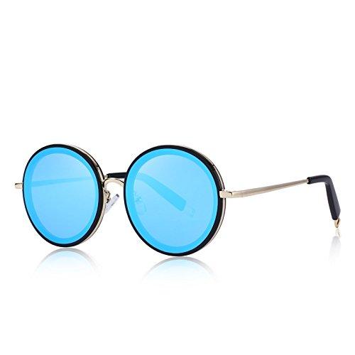 6d9870c3f78c9 TIANLIANG04 Dessin Femme Ronde Classique Lunettes de Soleil 100 % UV  Protection