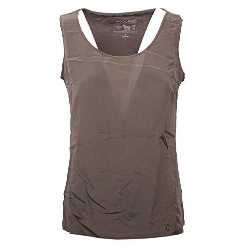 shirt Maglia Woolrich C4414 Canotta T Woman Donna Marrone UwqCYtWvCz