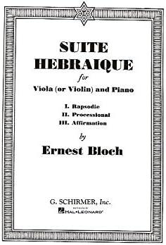 Piano A Viola Violin Ernest Bloch: Suite Hebraique Viola Or Violin And Piano