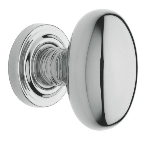 Baldwin 5025.FD Full Dummy Knob Set with 5048 Roses and Concealed Screws, Polished Chrome