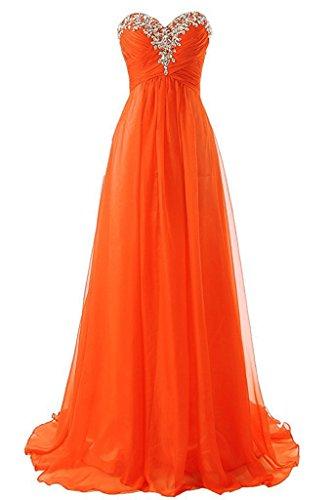 Anna's Fire Beaded Women's Evening Orange Dresses Bridesmaid Long Gowns Bridal raOcqwU4r