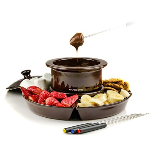 - Ovente CFC317BR Electric Cheese/Chocolate Fondue Melting Pots and Warmer Set, 1 Liter