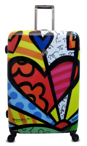 Heys USA Luggage Britto New Day 30 Inch Hard Side Suitcase, Multi-Colored, One - Lightweight Heys Luggage Usa