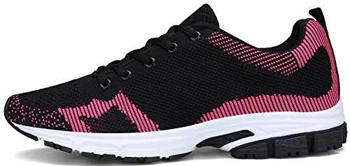 Sneakers da Nero Basse Corsa DENGBOSN Rosso Donna Running 36 Scarpe Nero Blu Ginnastica Rosso 43 BOY5wq0Y