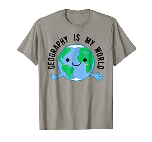 Funny Geography T-Shirt, Earth Teacher Geographer Apparel (The Word Geography Was First Used By)